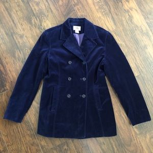 A/X Women Navy Velvet Peacoat